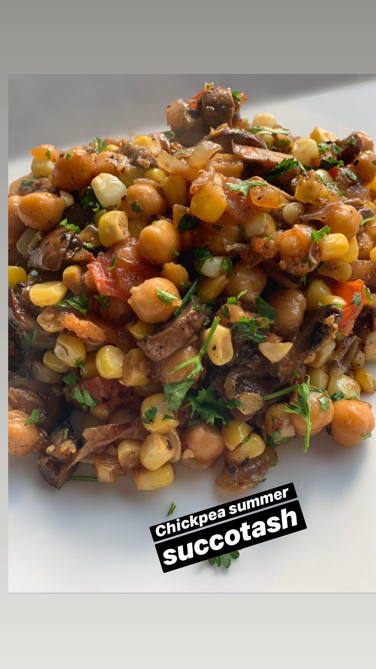 Summer Chickpea Succotash